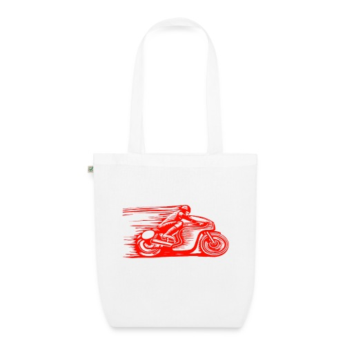 Caffeine & Gasoline white text - EarthPositive Tote Bag
