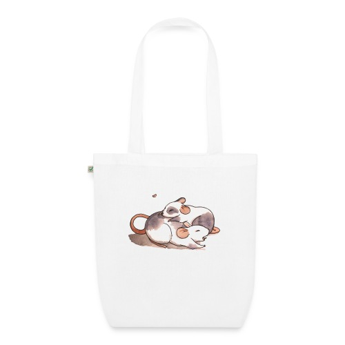 Mice cuddling - EarthPositive Tote Bag