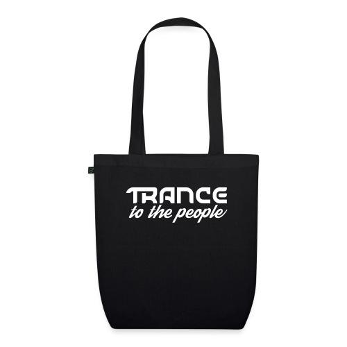 Trance to the People Hvidt Logo - Øko-stoftaske