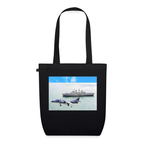 Sea harrier and Invicible digital oil - EarthPositive Tote Bag