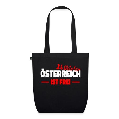 26 Oktober Austria Österreich Frei Shirt - Bio-Stoffbeutel