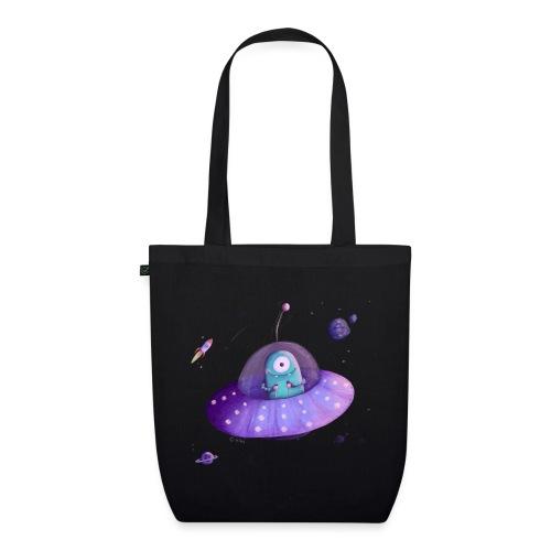 Alien im Raumschiff - Bio-Stoffbeutel