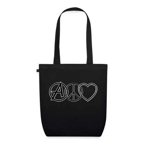 ANARCHY PEACE & LOVE - EarthPositive Tote Bag