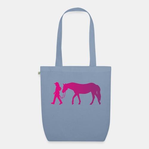 Mädchen führt Pferd, Horsemanship - Bio-Stoffbeutel