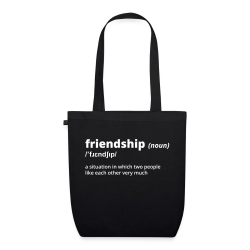 Friendship - Shirt (100% bio und fairtrade) - Bio-Stoffbeutel