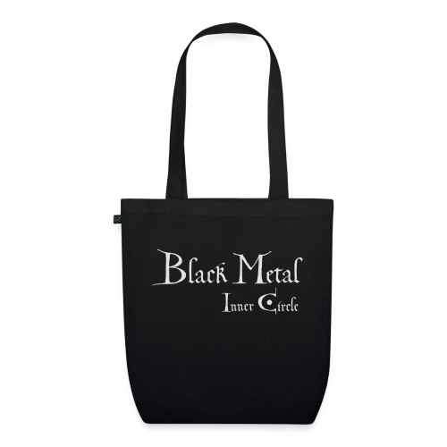 Black Metal Inner Circle, white - EarthPositive Tote Bag