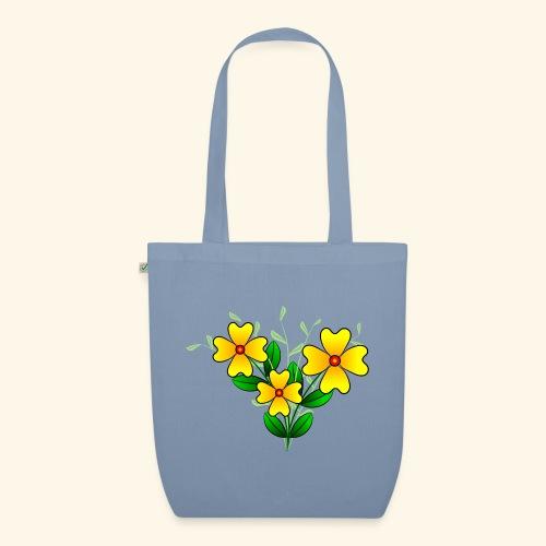 Blumenstrauß mit gelben Blumen, floral, Blüten - Bio-Stoffbeutel