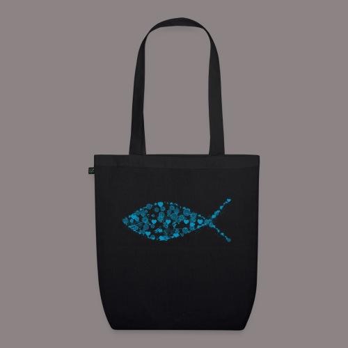 ichthys petrol - Bio-Stoffbeutel