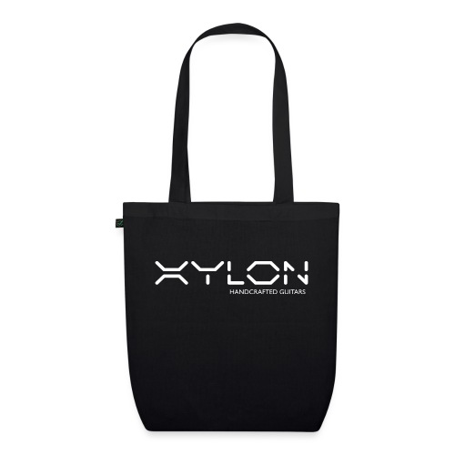 Xylon Handcrafted Guitars (name only logo white) - EarthPositive Tote Bag