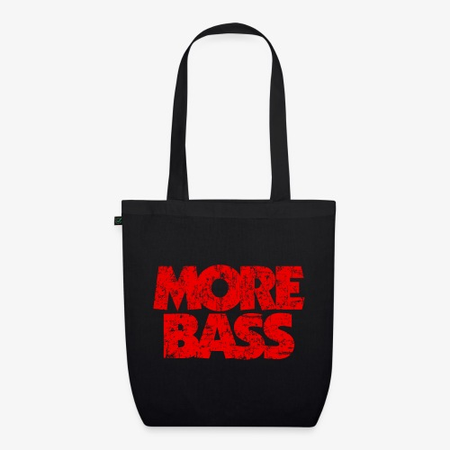 More Bass (Vintage/Rot) Bassist Bassisten - Bio-Stoffbeutel