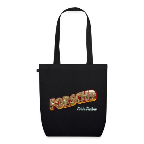 Forschd - Perle Badens - Vintage-Logo mit Luftbild - Bio-Stoffbeutel