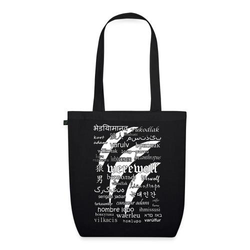 Werewolf in 33 Languages (Black Version) - Ekologiczna torba materiałowa