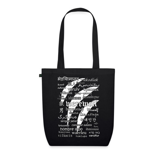 Werewolf in 33 Languages (Black Ver.) - EarthPositive Tote Bag