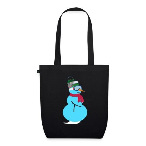Snowboarding snowman - Luomu-kangaskassi