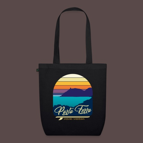 Porto Ferro - Vintage travel sunset - Borsa ecologica in tessuto