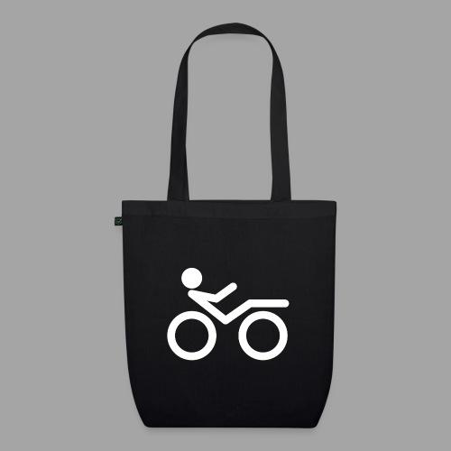 Recumbent bike white 2 - Luomu-kangaskassi