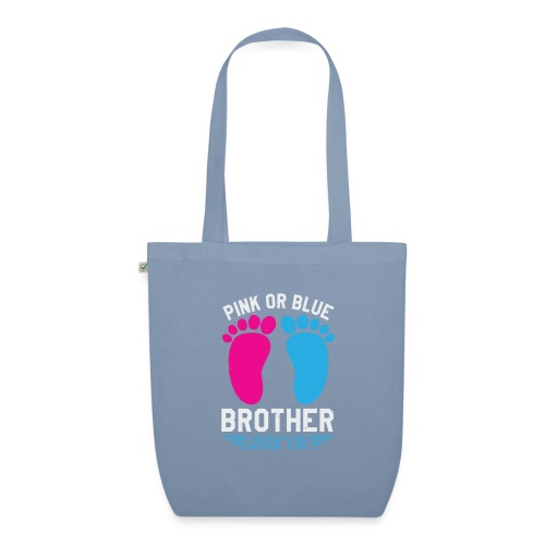 Pink or blue brother loves you - Bio-Stoffbeutel