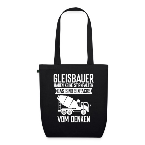 Gleisbauer Sixpacks vom Denken Schienenarbeiter - Bio-Stoffbeutel