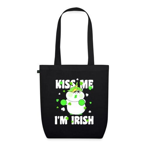 Kiss me I'm Irish Unicorn Einhorn - Bio-Stoffbeutel
