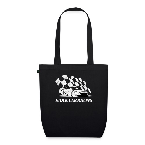 Stock Car Racing car and flag - EarthPositive Tote Bag