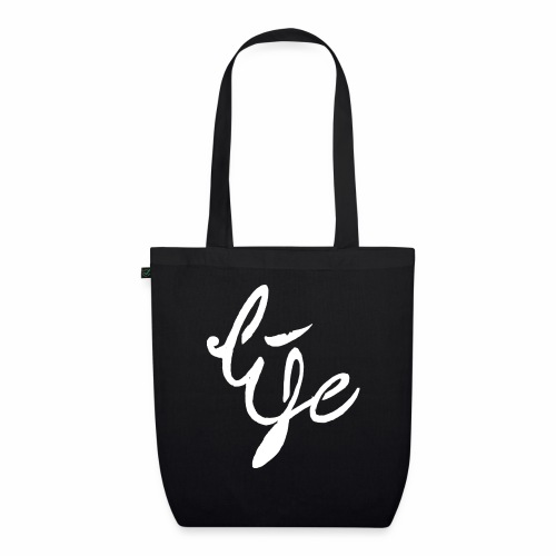 Life Logo simple white - Sac en tissu biologique