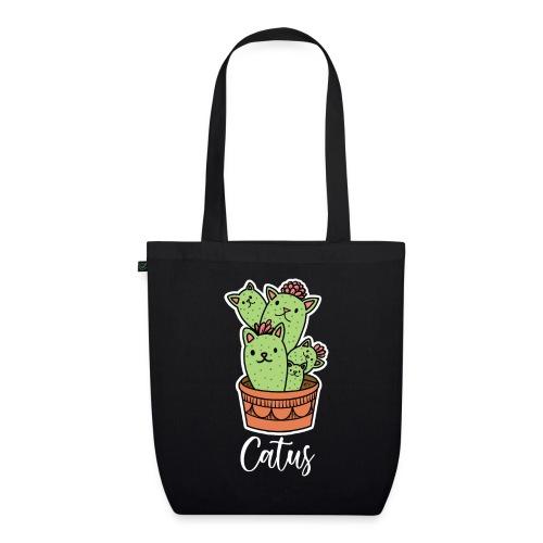 Catus Pflanze oder Tier Katze Kaktus lustig - Bio-Stoffbeutel