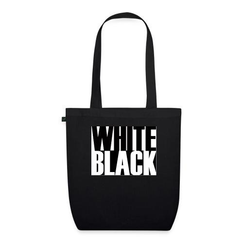 White, Black T-shirt - Bio stoffen tas