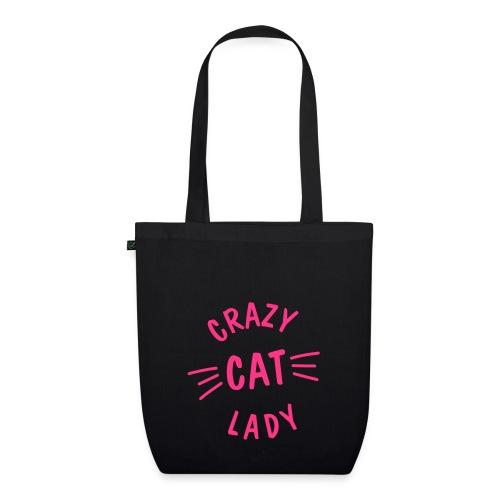 Vorschau: Crazy Cat Lady meow - Bio-Stoffbeutel