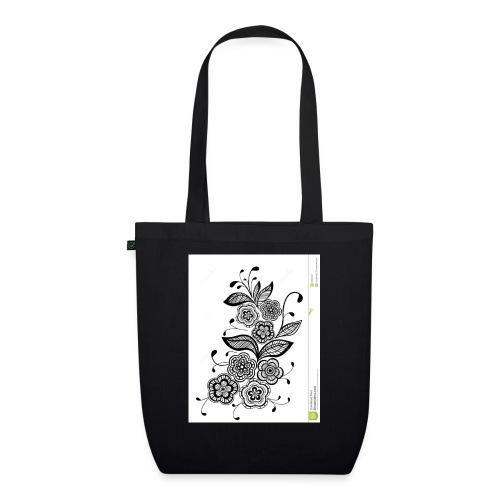 diseño de flores - Bolsa de tela ecológica