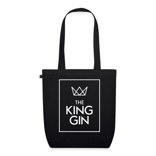 The King Gin Logo weiss RGB Rahmen - Bio-Stoffbeutel
