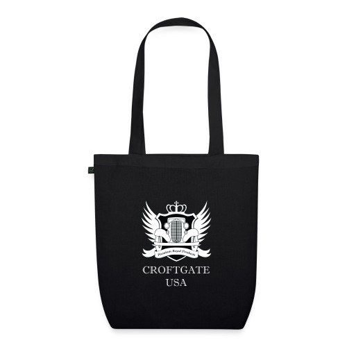 CroftgateUSA Logo White - EarthPositive Tote Bag