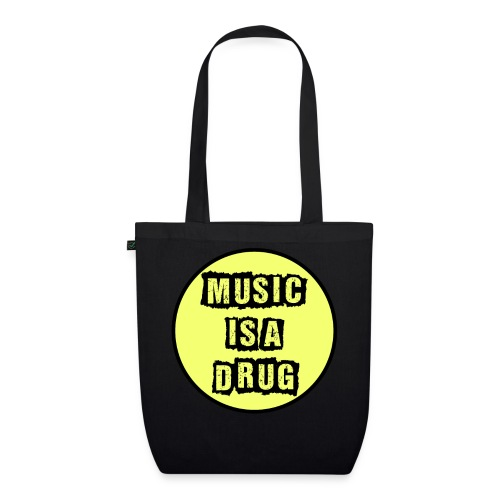 Music is a drug - Bio-Stoffbeutel