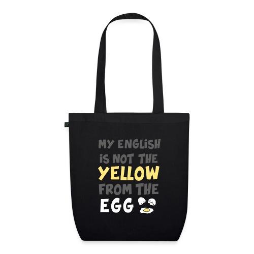 Das gelbe vom Ei Witz englisch - Bio-Stoffbeutel