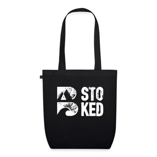 bstoked logo white - EarthPositive Tote Bag