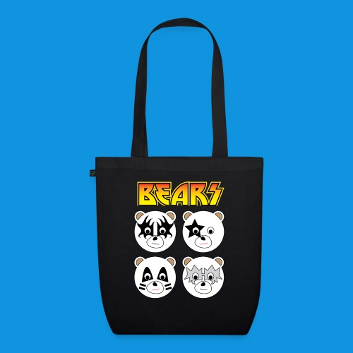 Kiss Bears square.png - EarthPositive Tote Bag