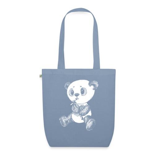 Panda Karhu valkoinen scribblesirii - Luomu-kangaskassi