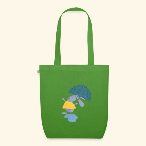 happy in the rain - EarthPositive Tote Bag