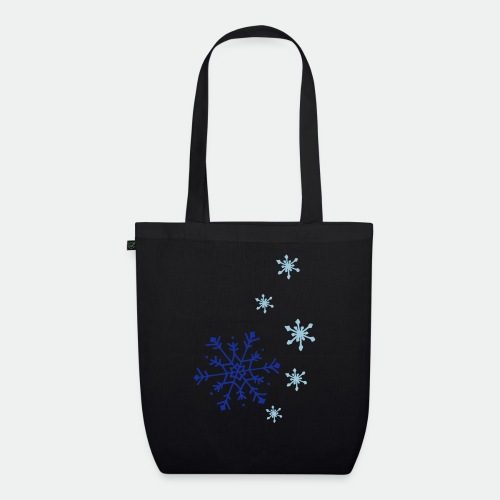 Snowflakes falling - EarthPositive Tote Bag