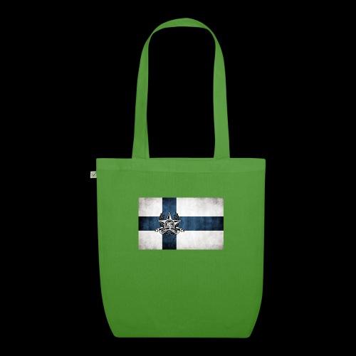 Suomen lippu - Luomu-kangaskassi