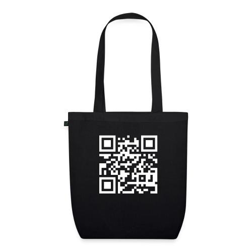 QR Barcode - met je eigen tekst - Bio stoffen tas
