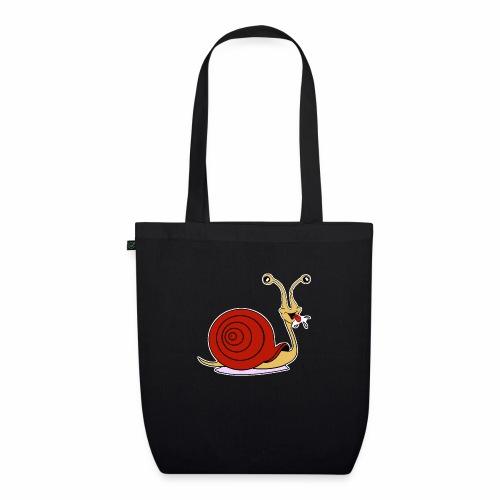 Escargot rigolo red version - Sac en tissu biologique