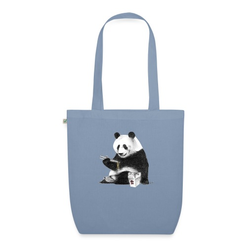 Panda Eating Noodles - EarthPositive Tote Bag
