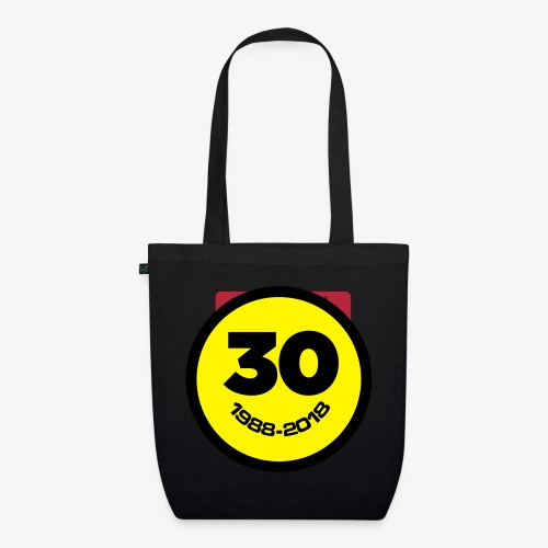 30 Jaar Belgian New Beat Smiley - Bio stoffen tas