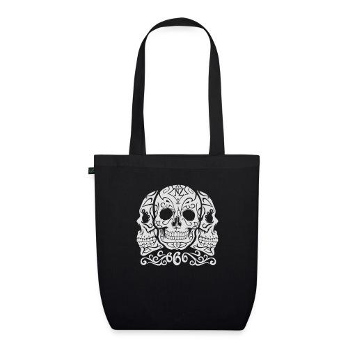 Skull Dia de los muertos - Sac en tissu biologique
