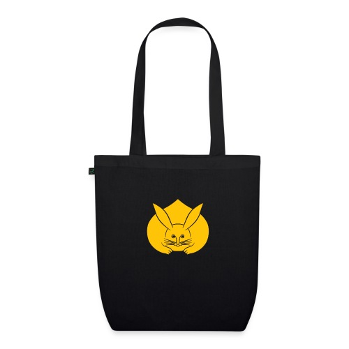 Usagi kamon japanese rabbit yellow - EarthPositive Tote Bag