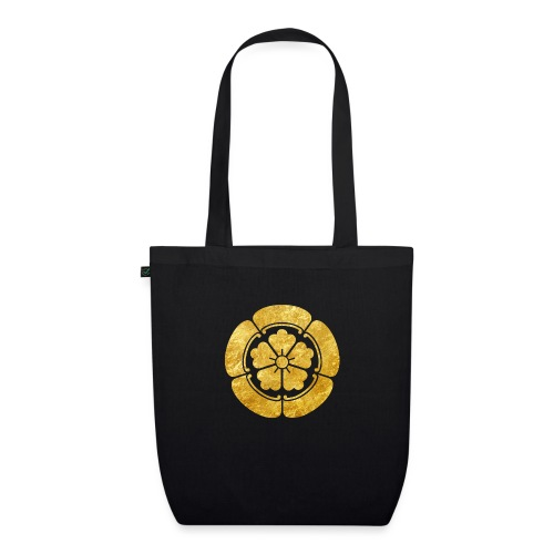 Oda Mon Japanese samurai clan faux gold on black - EarthPositive Tote Bag