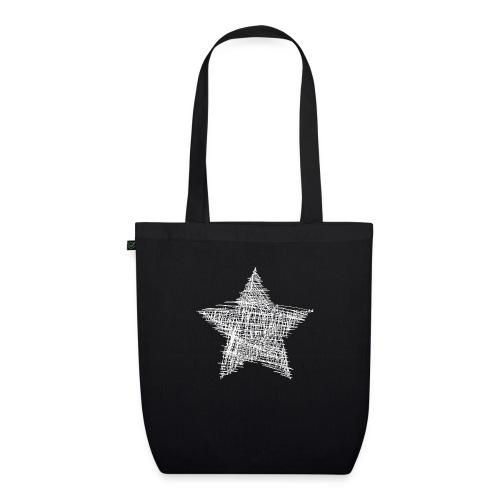 Estrella blanca - Bolsa de tela ecológica