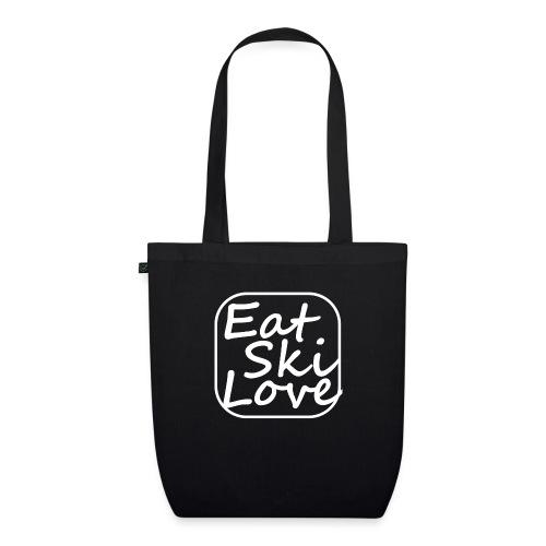 eat ski love - Bio stoffen tas