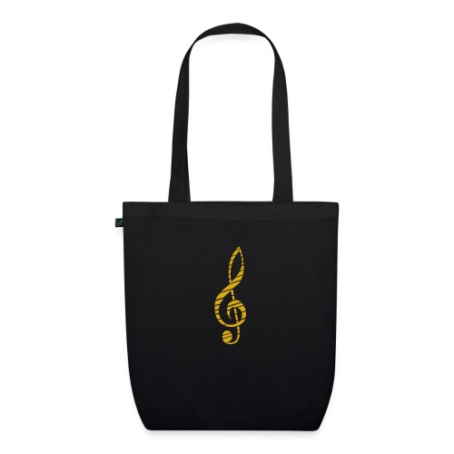 Goldenes Musik Schlüssel Symbol Chopped Up - EarthPositive Tote Bag