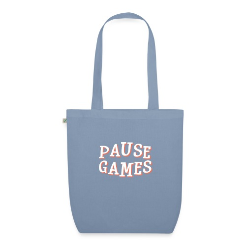 Pause Games Text - EarthPositive Tote Bag